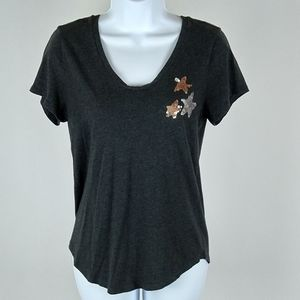 Loft tee with sequined accents